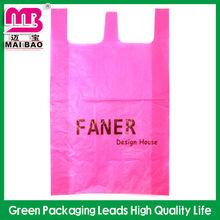100% biodegradable transparent flat plastic bag for shopping