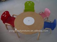bentwood children round table with storage