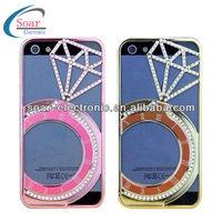 Fashional diamond watch chrome Hard Case for iPhone 5s