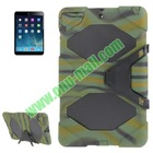 Shockproof Silicone and Plastic Combination Case for iPad Air with Holder