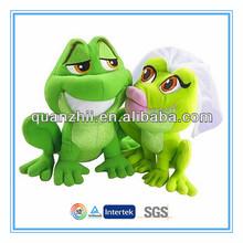 Stuffed couple frog toy customized size