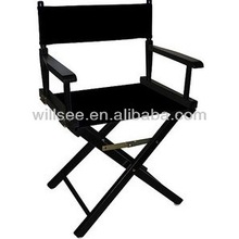HE-1000,Black outdoor solid wood director chair