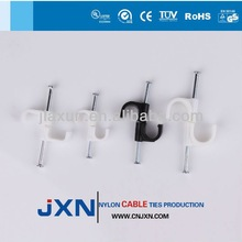 standard cable ties electric wire clip plastic circle nail cable clips