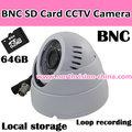 bnc cctv caméra avec détection de mouvement et les cartes sd de stockage local