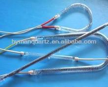High quality thermal conversion efficiency circle shape carbon fiber quartz heater element for electrical