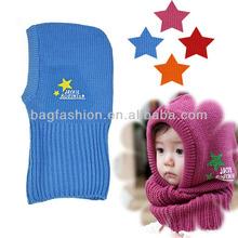 New Korean Cute Baby Kids Children Stretchy Warm Winter Five-pointed Star Cap Hat Beanie Collar Cap
