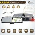 5 pollici auto dvr ciclo di registrazione con bluetooth, gps, trasmettitore fm, lettore multimediale, schermo capacitivo