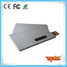 Real capacity 16gb metal card shape usb flash disk