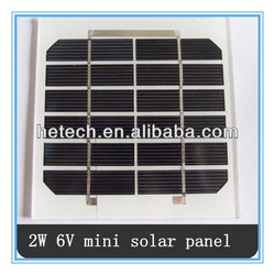 China direct 2w 6v mini solar panle 2w with best price