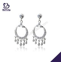 Good quality cute exotic gemstones pendant cupcake earring