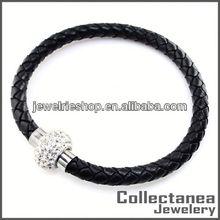 Magnetic Leather Bracelet Popular Bracelet Charms Leather And Metal Bracelet