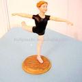 Costume fazer de plástico bailarina estatueta personalizado plástico bailarina estatueta