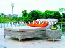 Hot Sale Outdoor Furnitue Aluminum Frame rattan beach chairs wholesale
