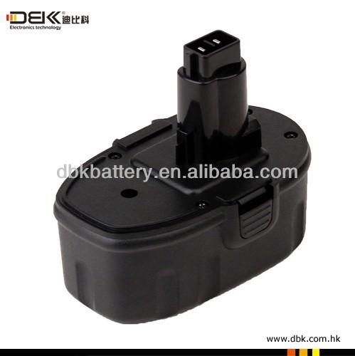 Power Tool Battery / Cordless Tool Battery for Dewalt 18V Black (Ni-MH)