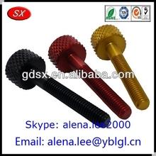 Various shape andoized aluminum screw/red&yellow aluminum set screws
