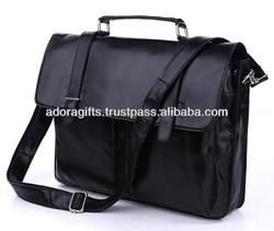 ADALLB - 0053 15 inch laptop messenger bag / custom made stylish laptop shoulder bag / leather laptop carry cases bag
