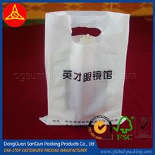 White die cut plastic bag perforated plastic bag HDPE plastic bag