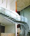 la serie 9001 zanca solo escaleras de madera curvada