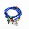 Manufacturers wholesale 108 natural lapis lazuli beads bracelet hidden silver accessories hand bead