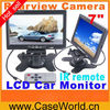 "7"" TFT Color LCD 2 Video Input Car RearView Headrest Monitor DVD VCR"