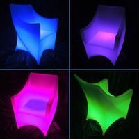 2014 new design plastic 16 colors rechargeable bar furniture led light base