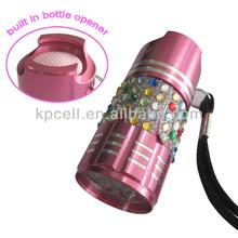 9 Led pocket flashlight keychain flashight with bottle opener flashlight usb keychain