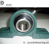 "UCP204 Pillow Block Mounted Bearing, 2 Bolt, 3/4"" Inside Diameter, Set screw Lock, Cast Iron, Metric"