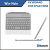 Bluetooth keyboard for iPad Mini with aluminum cover