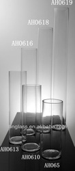 Clear large tall cylinder glass vases