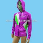 Men's custom design printing zipper up fleece hoody jackets/sweatshirts