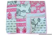 Cotton Flannel Blanket Quilt in Patchwork Queen Blanket Unisex Quilt Blanket Indian Quilt Throw Bedding
