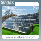 1MW flat roof &ground solar mounting system,concrete foundation solar panel mounting bracket, solar PV fixing system