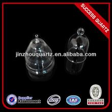 High purity clear quartz bell/quartz clock/quartz crystal bell