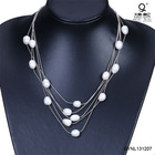 freshwater pearl and alloy chain jewel chain necklace