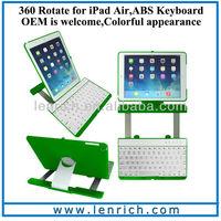 LBK163 For iPad keyboard swivel slide keyboard for iPad air lowest price