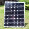 Family, street lamp, solar systems, solar panels