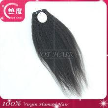 Wholesales brazilian remy hair kinky straight weft joedir perm yaki