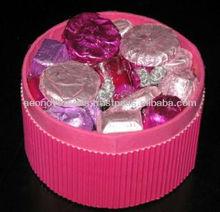Corrugated round chocolate gift box