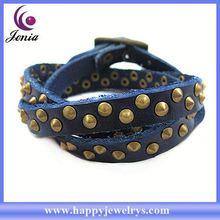 Popular design good quality real leather bracelet wrap around leather bracelet SL0294-6