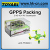new packing 2.4g 4-axis remote control quad helicopter camera
