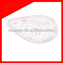 Acrílico régua curva francesa de costura, ar-015