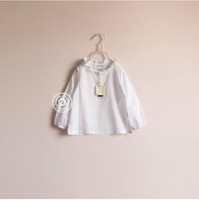 *Hot Sale*White basic t-shirt for girl baby clothes little pricess t shirt HZ Luomai #180047