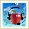 commercial printing poster for music headphones