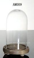Clear glass bell jar cloche