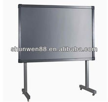 Interactive whiteboard with whiteboard marker holder