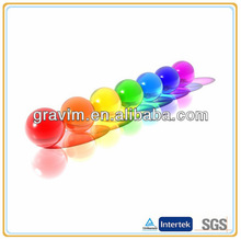 coloful transparent rubber clear hi bouncy ball