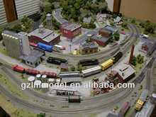 Train sand table model , train railway model layout making,