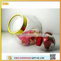vidro de armazenamento jarra com tampa de plástico