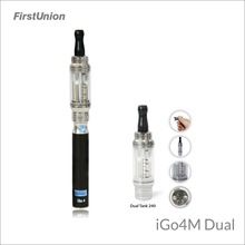 Firstunion latest inventions electric hookah shisha iGo4M dual LCD display e-cigarette dual vaporizer flavors