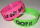 1inch silicone wristband bracelet